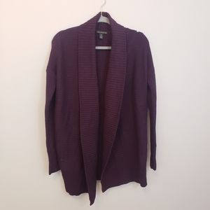 A Pea in the Pod Shawl Collar Open Front Cardigan
